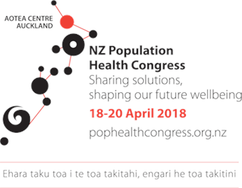 Logo for the 2018 NZ Population Health Congress.