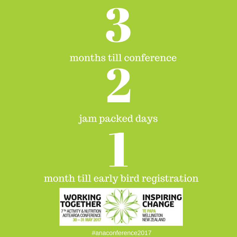 ANA Conference: 3 months to go; 2 jam packed days; 1 month til early bird registrations.