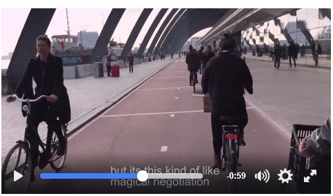 Screenshot of CycleSpace video on cycling.