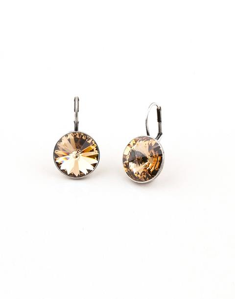 Golden Shadow Drop Earrings (E349)