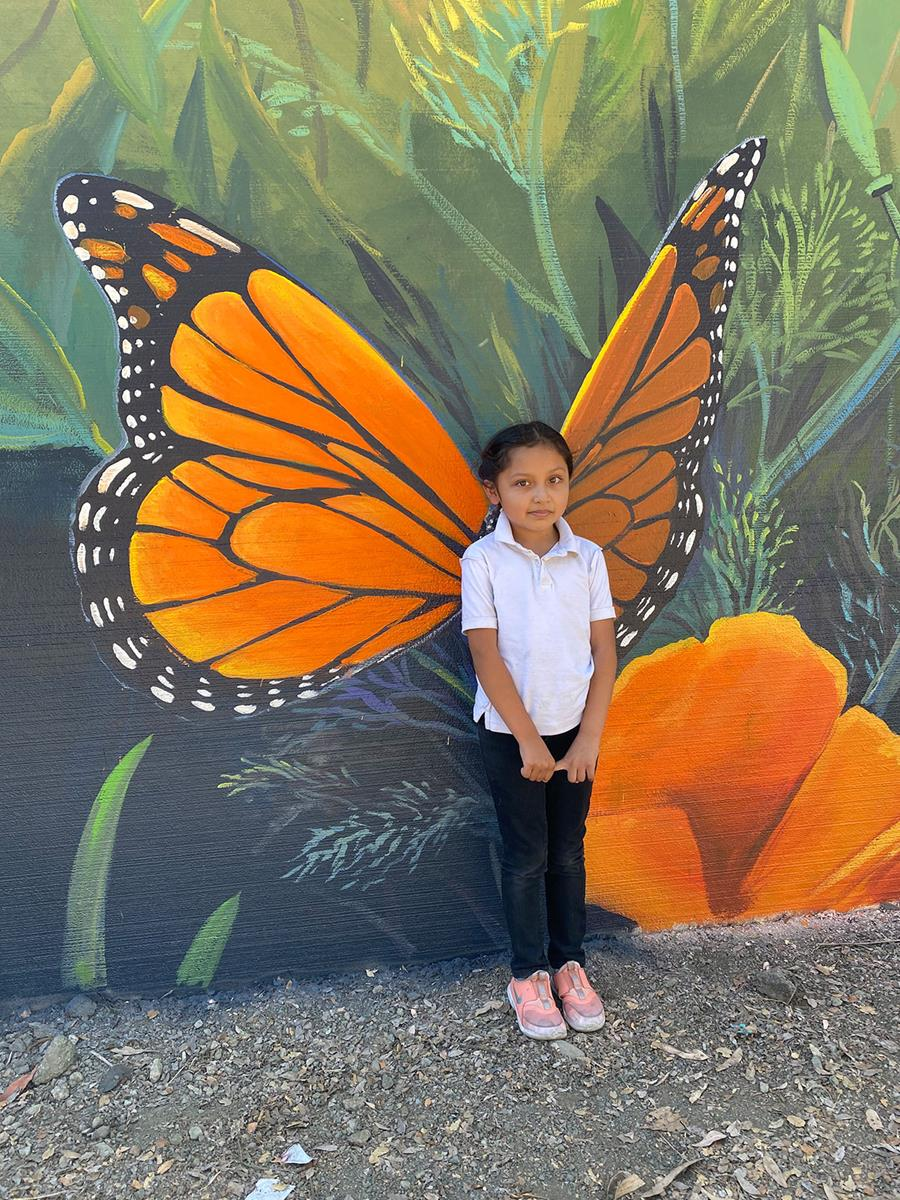 Interactive Monarch Wings Mural for Kids